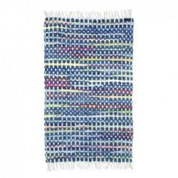 Alfombra de algodón Azul 85x55 cm