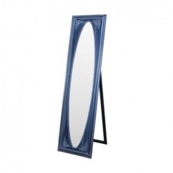 Espejo de Pie Retro Resina y Cristal Azul 166 cm