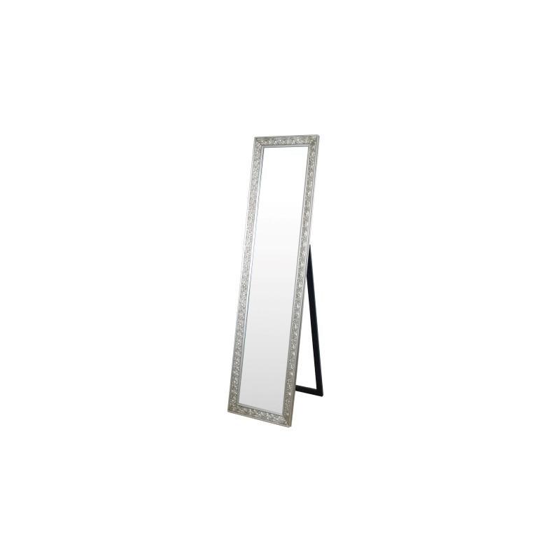 Espejo de Pie Retro Resina y Cristal Plateado 160 cm