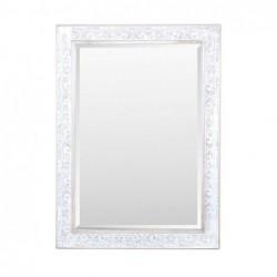 Espejo Retro Resina y Cristal Blanco 107 cm