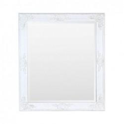Espejo Retro Resina y Cristal Blanco 70 cm