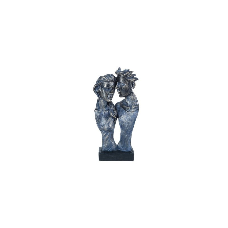 Figura Decorativa Busto Pareja Resina 34 cm