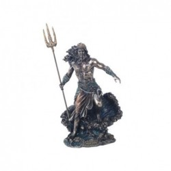 Figura Decorativa clasica Dios Griego Poseidon Dios del Mar Resina 21 cm