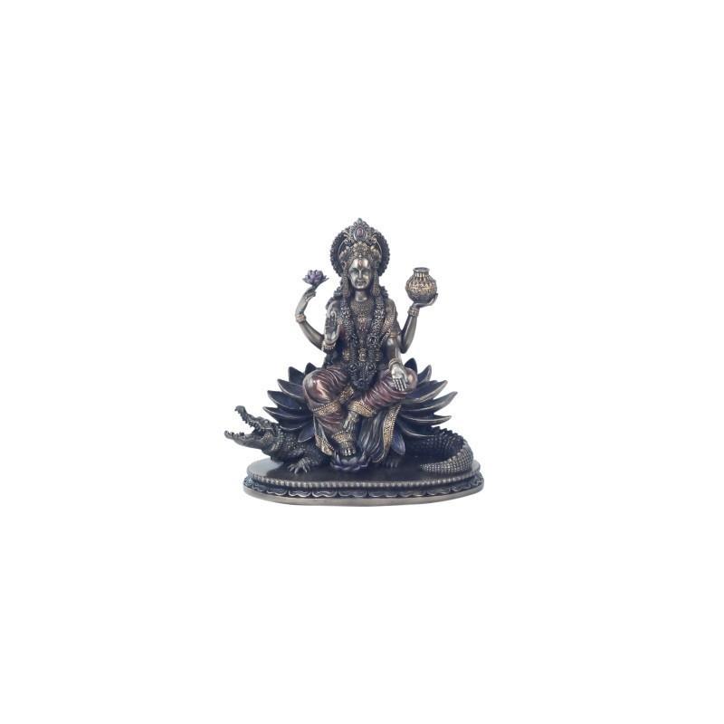 Figura Decorativa clasica Dios Hindu Ganga Resina 21 cm