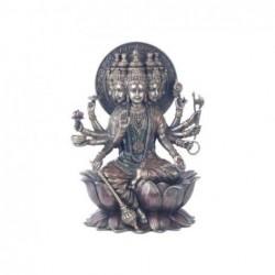Figura Decorativa clasica Dios Hindu Gayatri Resina 26 cm