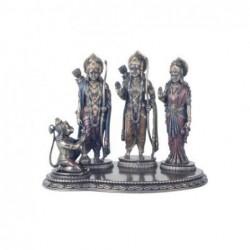 Figura Decorativa Familia Hindu Resina 24 cm