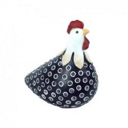 Figura Decorativa Gallina Resina Negra 16 cm