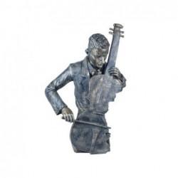 Figura Decorativa Musico Clasico Resina 46 cm