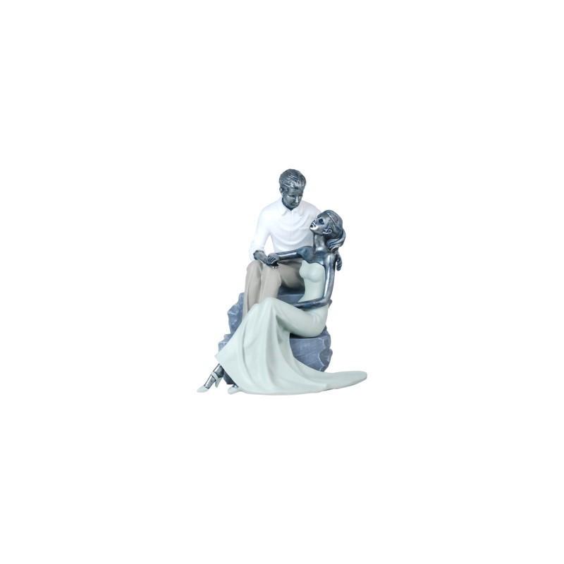 Figura Decorativa Pareja Resina 28 cm