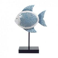 Figura Decorativa Pez Resina 33 cm