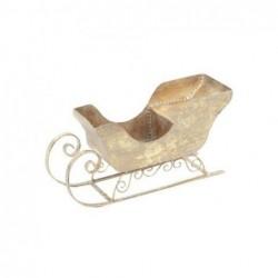 Figura Decorativa Trineo Metal 20 cm Dorado