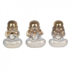 Figura Decorativa x 3 Monje Budista 15 cm