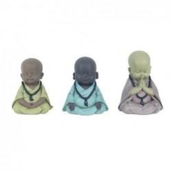Figura Decorativa x3 Monjes Budistas 11 cm
