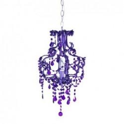 Lampara de Techo Barroco Violeta 40 cm