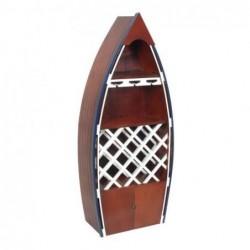 Mueble Botellero Barco Madera Marron 137 cm