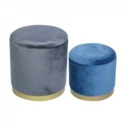 Taburete Set 2 Colores Madera 40 cm