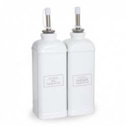 Aceitera y Vinagrera 250 ml Ceramica 21 cm