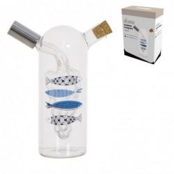 Aceitera y Vinagrera 250 ml Cristal 18 cm