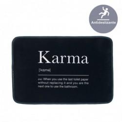 Alfombra de Baño Extrasuave Karma Negro 70x45 cm