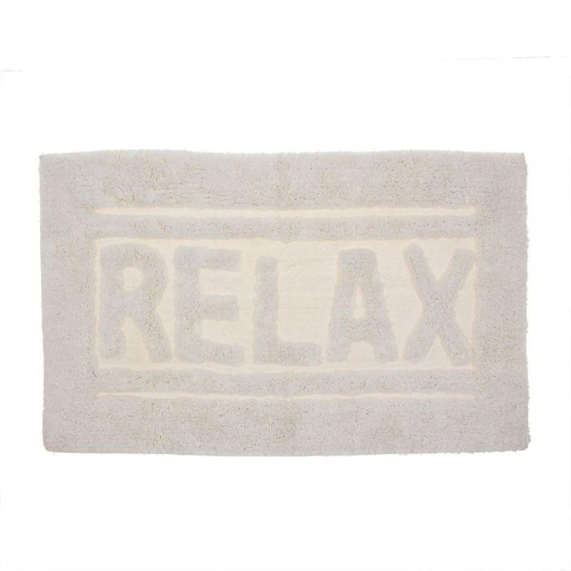 Alfombra de Baño Relax Blanca 70x45 cm