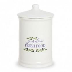 Bote de Cocina Ceramica blanco 20 cm