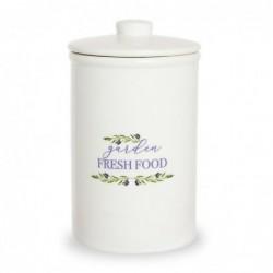 Bote de Cocina Ceramica blanco 22 cm