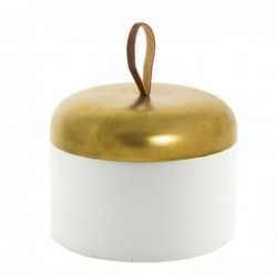 Bote Porta algodones Baño Bicolor Ceramica 9 cm