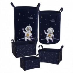 Cesto Ropa Sucia Set 5 Unidades Astronauta Azul 51 cm