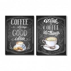 Cuadro Decorativo x2 Café 30x40 cm