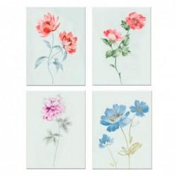 Cuadro Decorativo x4 Rosas 30x40 cm