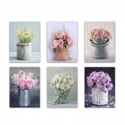 Cuadro Decorativo x6 Flores 30x40 cm