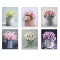 Cuadro Decorativo x6 Flores 40x50 cm