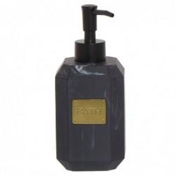 Dispensador Jabon Baño Negro Resina 15 cm