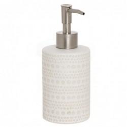 Dispensador Jabon Baño Spot Blanco Ceramica 15 cm