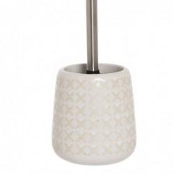 Escobillero WC Blanco Ceramica 40 cm