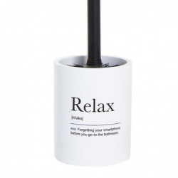 Escobillero WC Relax Blanco Resina 36 cm