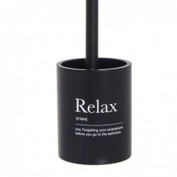Escobillero WC Relax Negro Resina 36 cm