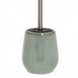 Escobillero WC Verde Ceramica 40 cm