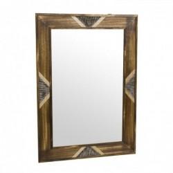 Espejo de Pared Madera Etnico Marron 50x70 cm