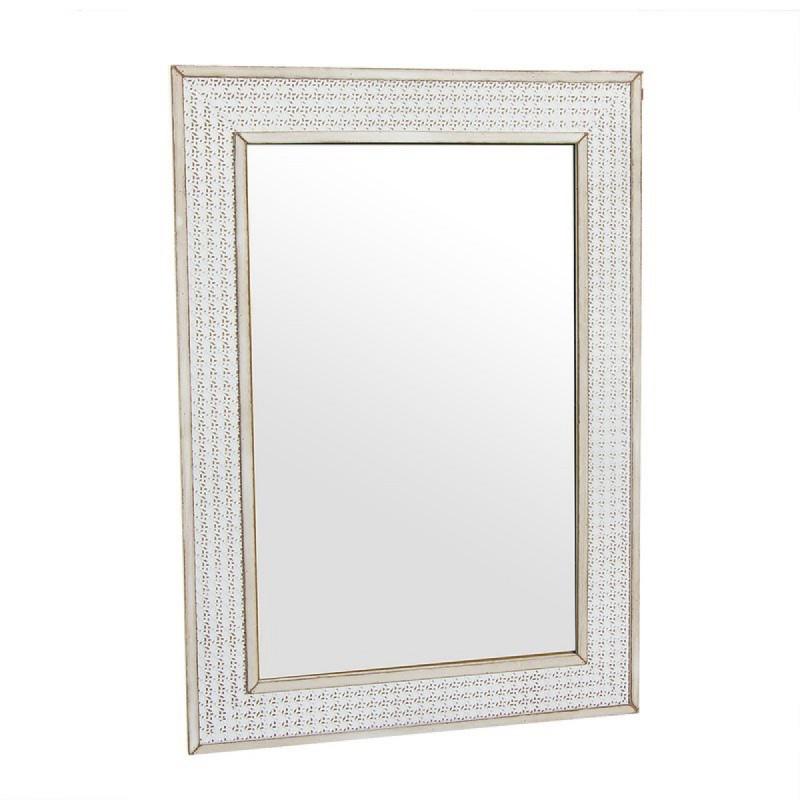 Espejo de Pared Madera Rustico Marron 50x70 cm
