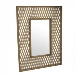 Espejo de Pared Rectangular Bambu Marron 60x80 cm