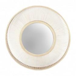 Espejo de Pared Redondo Bambu Marron 60 cm