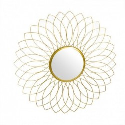Espejo de Pared Redondo Metal Oro 60 cm