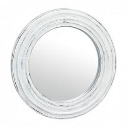 Espejo de Pared Redondo Plastico Blanco 51 cm