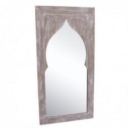 Espejo Pared Arabe Madera Marron 50x100 cm