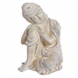 Figura Decorativa Buda Resina Blanco 25 cm