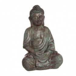 Figura Decorativa Buda Sentado Resina Marron 28 cm