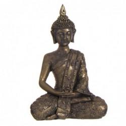 Figura Decorativa Buda Sentado Resina Oro 21 cm