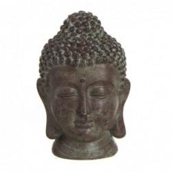 Figura Decorativa Cabeza Buda Resina Marron 18 cm
