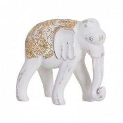 Figura Decorativa Elefante India Resina Blanco 20 cm